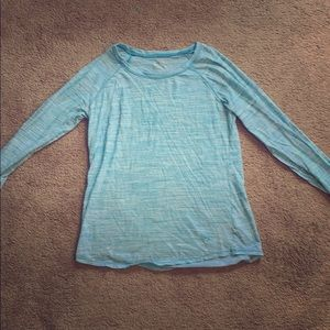 Justice Blue Long Sleve Activewear Tee